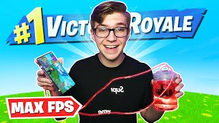 I used this *SECRET DEVICE* to get MAX FPS on Fortnite Mobile... (super rare)