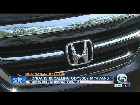 Honda is recalling Odyssey minivans