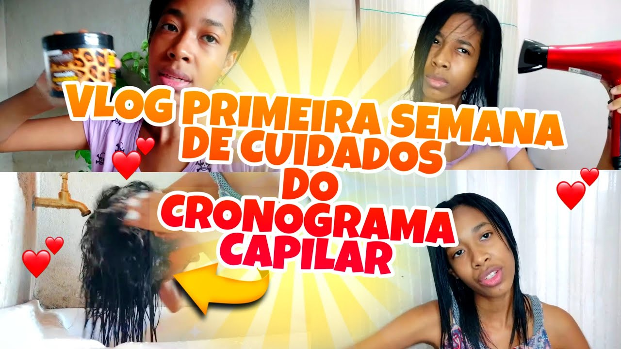 VLOG ROTINA CAPILAR   PRIMEIRA SEMANA DE CRONOGRAMA CAPILAR !!