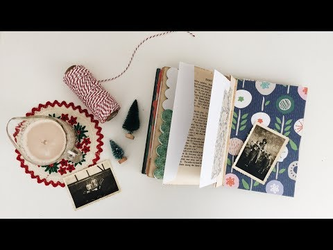 Last Minute DIY Christmas Gifts | DAY 3/12 Altered Book Album