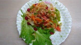 Летний овощной салат пальчики оближешь!