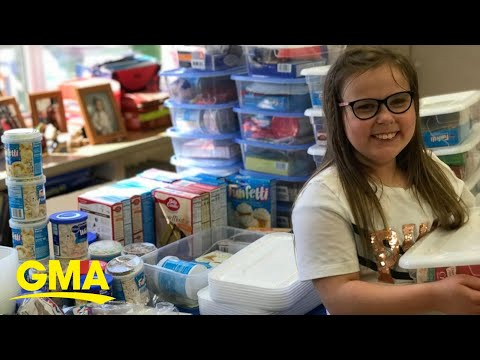 Kylie - GOOD VIBES: Third-grader makes 'birthday boxes' for classmates in need!