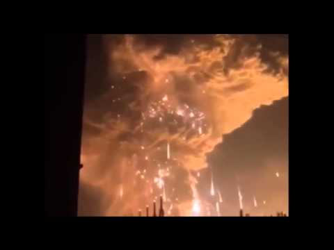 【中国 事故映像】天津大爆発の瞬間 2015 8 12