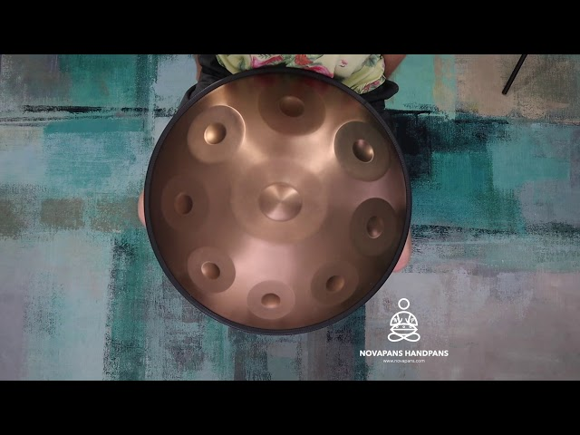 9 Note D Celtic Minor in Gold | Generation 4 | Novapans Handpans