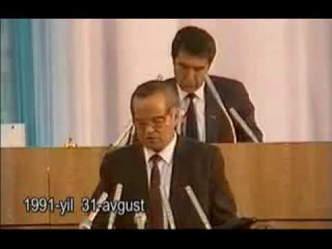 1991-yil 31- avgust Islom Karimov tamonidan mustaqilligimiz e'lon qilingan laxzalar