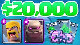 Clash Royale ♦ The $20,000 BATTLE! ♦ INSANE Decks in Clash Royale!