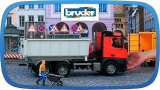Mercedes-Benz Arocs LKW mit Abrollcontainer -- 03622 -- BRUDER Spielwaren