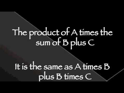 The Distributive Property Song