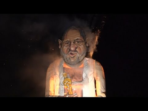 Effigy Of Harvey Weinstein Burnt At British Town's Bonfire Night
