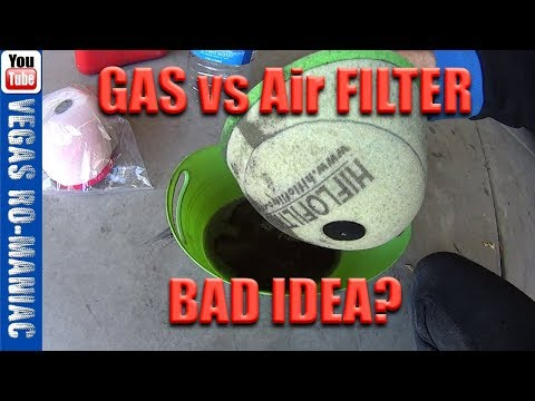 How to CLEAN your FOAM AIR FILTER with GAS for FREE on DIRTBIKE without DAMAGE and REUSE FOREVER