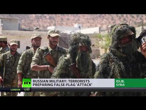 'Blame already assigned': Staged chem attack in Idlib begins filming, according to Russian MoD