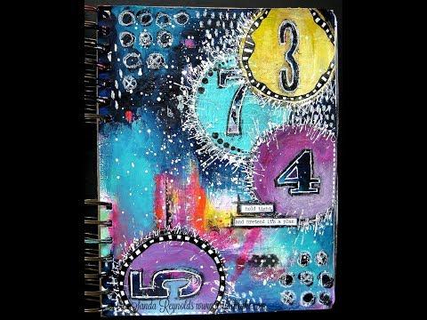 Art Journaling Youtube Hop - mixed media art journal page