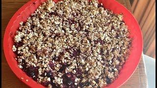 Vegan recipe! Berry Cobbler no sugar, no oil, no flour, very yummy
