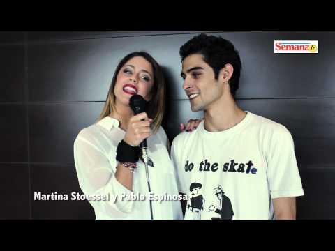 Un saludo de Martina Stoessel y Pablo Espinosa para Semana Jr