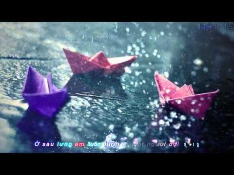 [Karaoke HD] Yêu Sau Lưng Em - Vương Anh Tú
