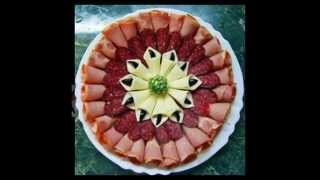видео Красивые нарезки из колбасы: как оформить; колбасная нарезка, колбасная тарелка, ассорти из колбасы