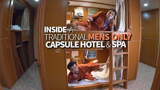 Tokyo Mens-Only Capsule Hotel & Lounge Chair Stay Experience ★ ONLY in JAPAN