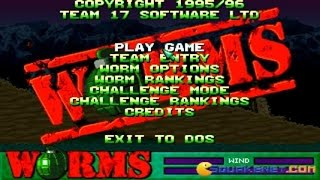 Worms gameplay (PC Game, 1995)