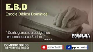 ✅Domingo 09/05 às 09h00   Retorno Presencial da Escola Bíblica Dominical