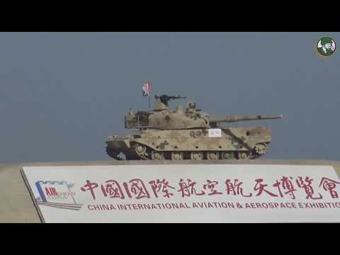 Ground mobility demonstration with tanks and combat vehicles at Air Show China 2018 Zhuhai