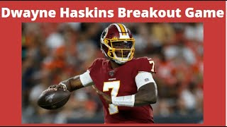 Redskins vs eagles! dwayne haskins breakout game!terry mclaurin is a beast