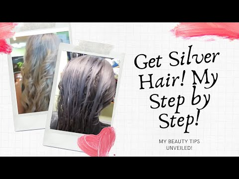 SILVER HAIR!!! STEP BY STEP PROCESS COLOR CORRECTION