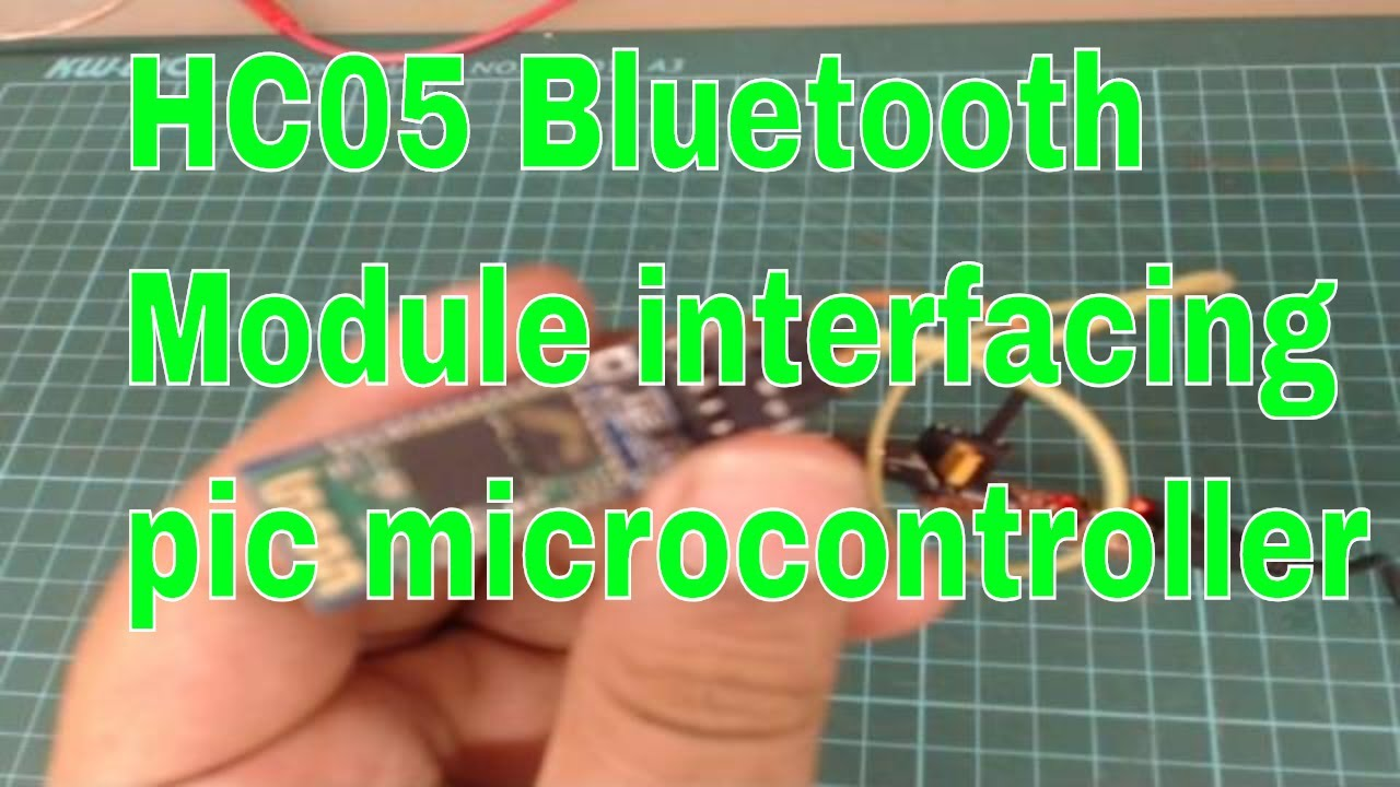 Bluetooth module HC 05 interfacing with pic microcontroller