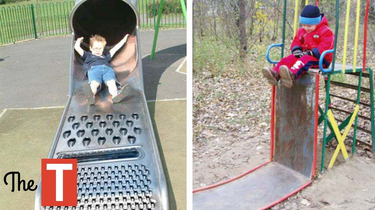 The Unsafe Child Less Outdoor Play Is >> 10 Most Dangerous Playgrounds For Kids Youtube