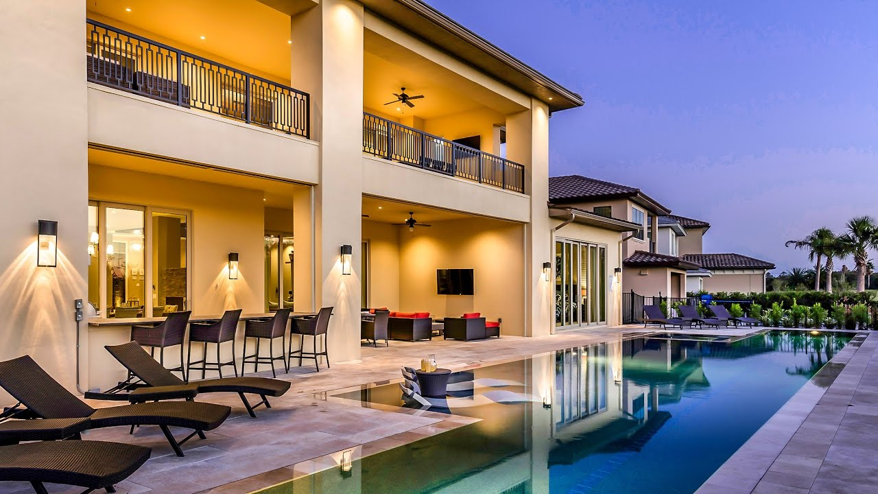 Amazing vacation homes tour a 9 bedroom villa in orlando florida youtube 4 bedroom vacation rentals orlando florida