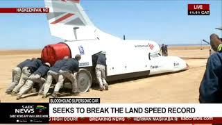 The Bloodhound Supersonic car will be showcased at Hakskeenpan