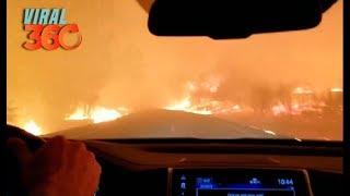 🔥🚨 Familia escapa de incendio en California 🚨🔥
