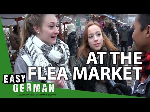 At the Mauerpark flea market in Berlin | Easy German 137