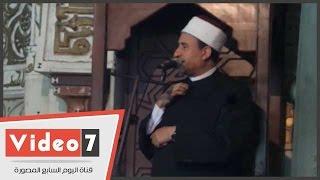 بالفيديو .. خطيب الأزهر يروى قصة أمر عمر بن الخطاب لقبطى بضرب عمرو بن العاص