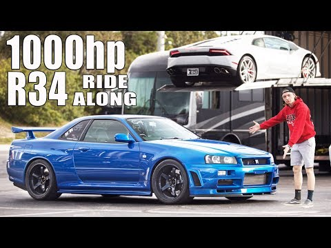 GTR Newb Gets Ride of His Life (1000hp R34)