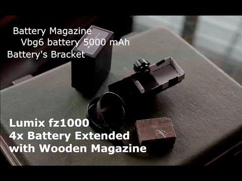 Diy 4x Battery Extended Wooden Magazine Lumix fz10