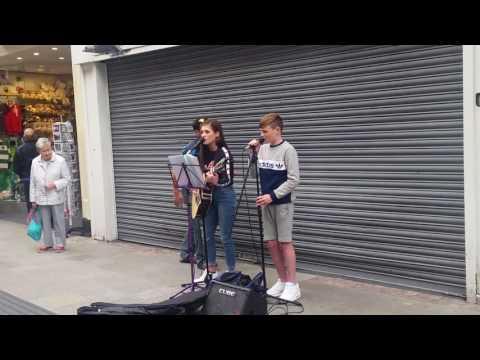 pompeii Talented Kid Buskers on Grafton Street (DUBLIN IRELAND)