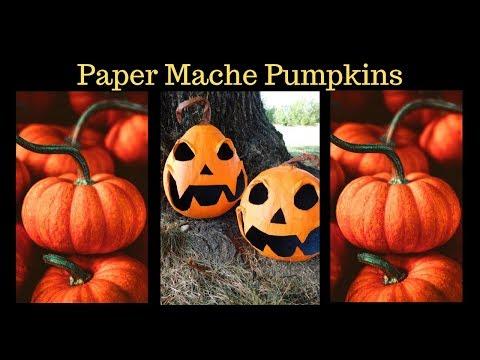 How to Make Paper Mache Pumpkins 🎃👻🎃👻🎃