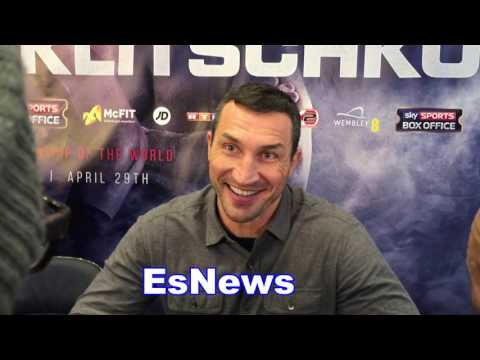 Wladimir Klitschko Loves That The Facs Will Be Against Him EsNews Boxing
