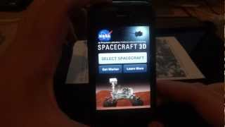 Review of the NASA Spacecraft 3D app for IOS