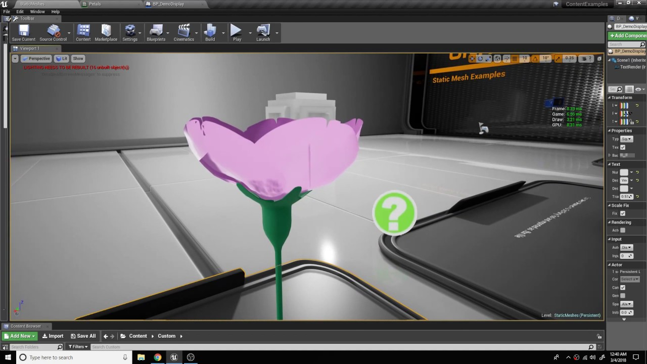 Vector Animation Material Test || UE4 || Blender