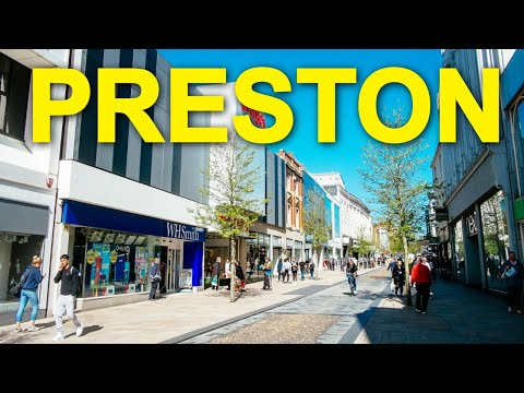Remembering The British High Street - City Of PRESTON In Lancashire , England