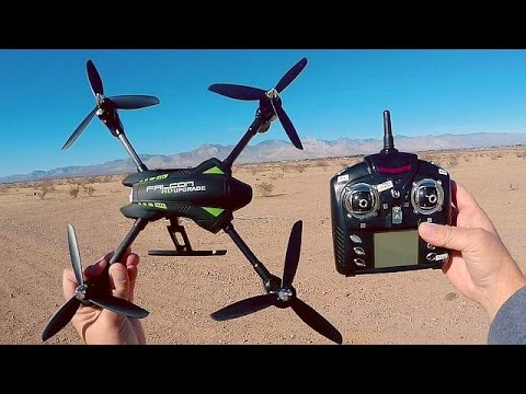 WLToys Q323-C Large Altitude Hold Drone Flight Test Review
