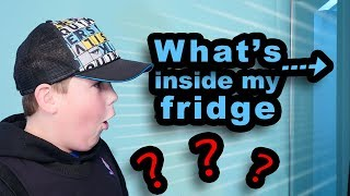 What's in my HUGE fridge? (it's NOT what you'd expect!!)