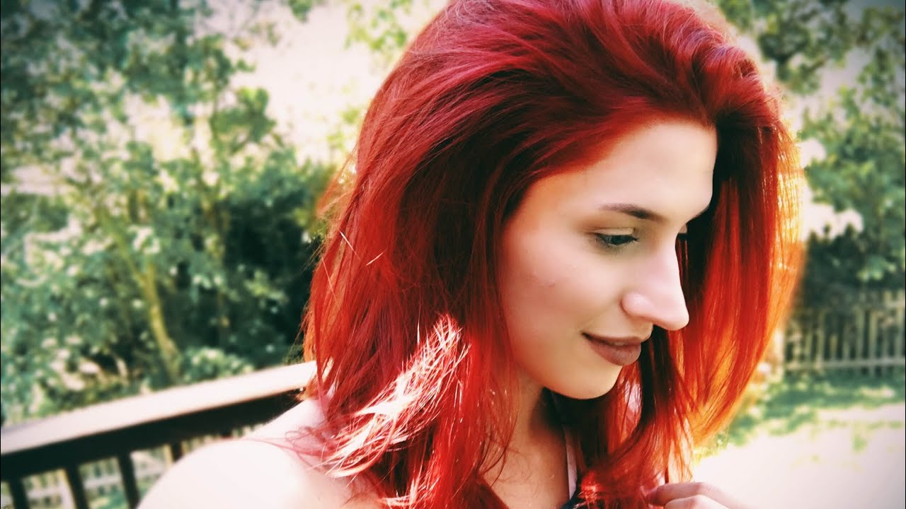 HOW TO MAKE RED HAIR COLOR LAST Ft Aveda Products YouTube