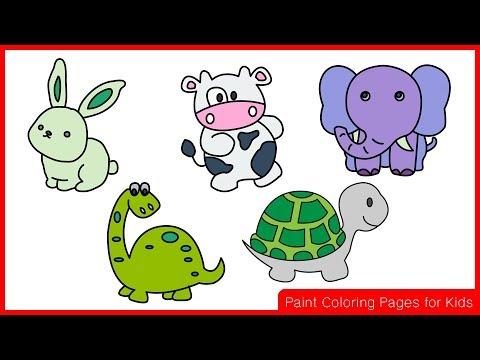 วาดรูปกระต่าย วาดรูปวัว วาดรูปช้าง วาดรูปไดโนเสาร์ วาดรูปเต่า (วาดรูปสัตว์ง่ายๆ) วาดรูปการ์ตูน