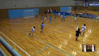 7日 ハンドボール女子 国体記念体育館Dコート 聖和学園×高水 3回戦 1