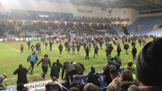 Coventry City vs Wycombe Wanderers - post match pitch invasion