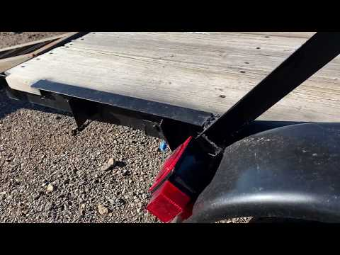 "Homemade 4'8""x8'1"" Wood Utility Trailer - 1519"