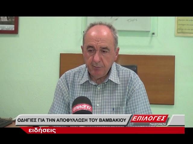 ΔΑΟΚ Σερρών: Οδηγίες για την αποφύλλωση του βαμβακιού