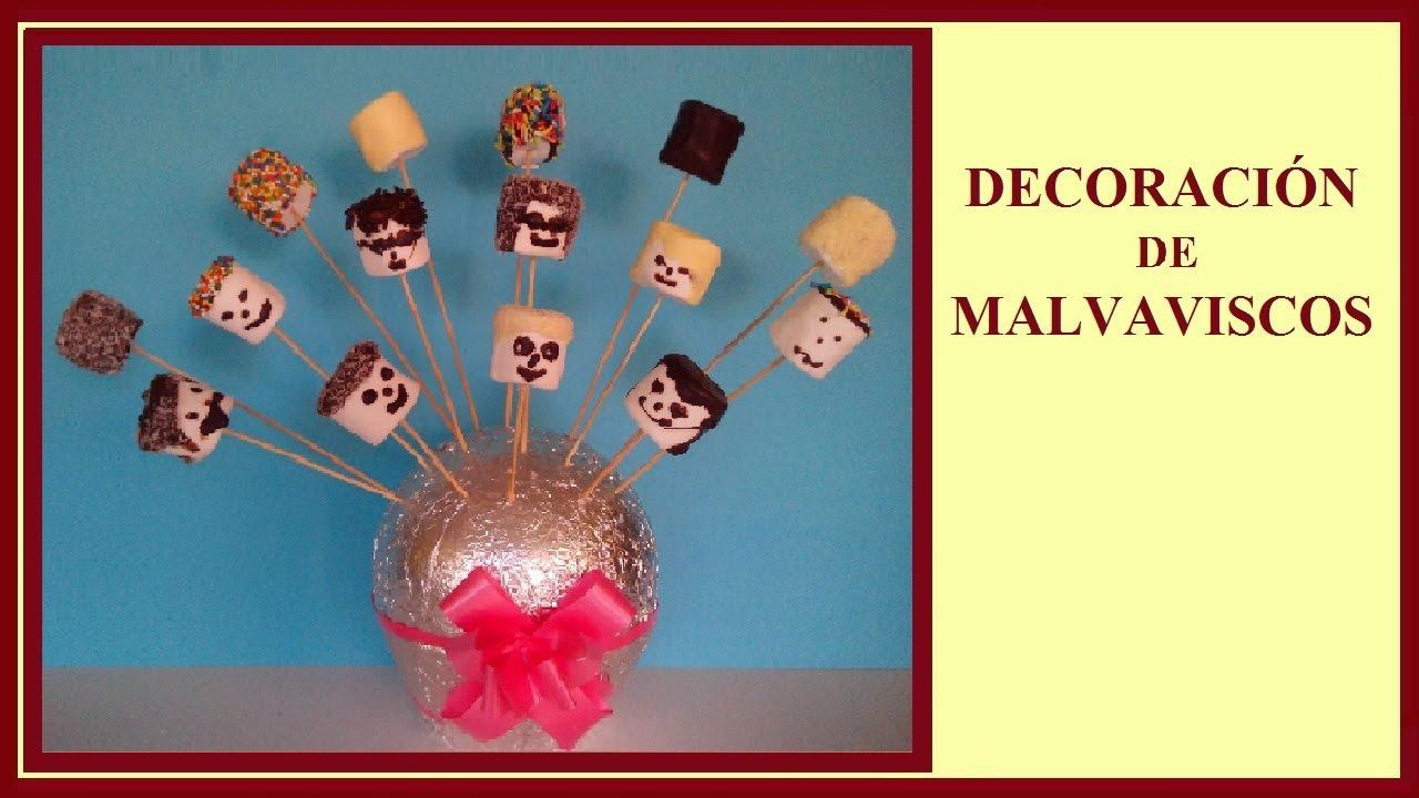 Decoraci n de malvaviscos ideas para navidad y - Ideas para decorar de navidad ...